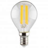 Bec LED filament Hoff mini G45 E14 5W 600lm lumina calda 2700 K