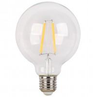 Bec LED filament Hoff glob G95 E27 6W 720lm lumina rece 6500 K