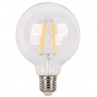 Bec LED filament Hoff glob G95 E27 6W 720lm lumina calda 2700 K