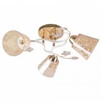 Lustra Karma LY-3351, 3 x E27, auriu + alb antic + bej