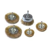 Perii cu tija pentru slefuire si decapare, pentru bormasina, Lumytools LT06982, 40 - 75 mm, set 5 bucati