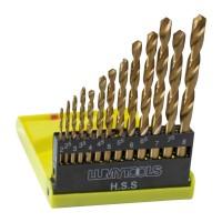 Burghiu pentru metal, tip HSS, 2 - 8 mm, Lumytools LT22310, set 13 bucati