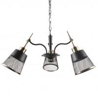 Lustra Saga KL 6833, 3 x E27, negru + bronz