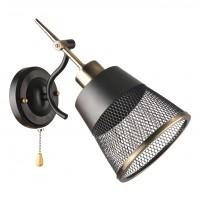Aplica Saga KL 6835, 1 x E27, negru + bronz