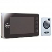 Vizor electronic cu senzor de miscare Yale, inregistrare foto si video, sonerie integrata