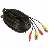 Cablu CCTV Yale, exterior, negru, 18 m