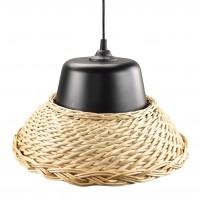 Suspensie Wicker LY-3335, 1 x E27, neagra