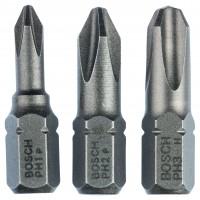 Biti pentru insurubare, profil Phillips, Bosch 2607001752, 25 mm, set 3 bucati