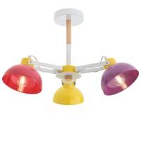 Plafoniera Eolo 04-512, 3 x E27, multicolora