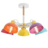 Plafoniera Eolo 04-513, 5 x E27, multicolora