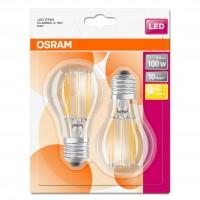 Bec LED Osram clasic A60 E27 11W 1521lm lumina calda 2700 K, cu filament - 2 buc