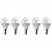 Bec LED Lohuis mini E14 6W 600lm lumina rece 6500 K - 5 buc