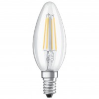 Bec LED filament Osram lumanare B40 E14 4W lumina calda