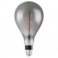 Bec LED decorativ vintage Osram Edison Fil Smoke clasic E27 5W 110 lm lumina calda 1800 K, dimabil