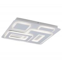 Plafoniera LED Montelle 5859, 56W, lumina calda - rece, cu telecomanda, cromata