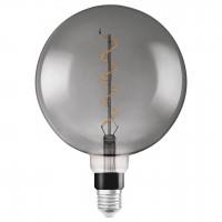 Bec LED decorativ vintage Osram Edison Fil Smoke glob G200 E27 5W 110 lm lumina calda 1800 K, dimabil