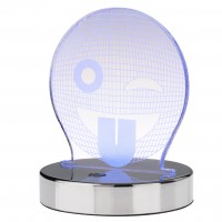 Veioza LED RGB Playlight 04-503, 3.5W, smiley