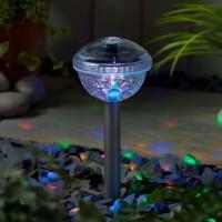Lampa solara disco LED RGBY Hoff, H 31 cm