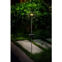Lampa solara LED Hoff, star blast, metal si plastic, fir cupru, H 85 cm