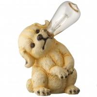 Lampa solara LED filament Hoff, caine, polirasina, H 25 cm