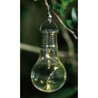 Lampa solara 3 microLED Hoff, bec, plastic, lumina calda
