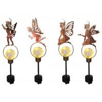 Lampa solara Hoff, cu figurina metalica, H 58 cm, diverse modele