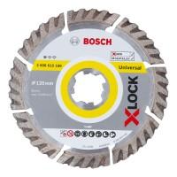 Disc diamantat, segmentat, pentru taiere universala, Bosch X-Lock Carbide Multi Wheel, 125 x 22.23 x 2 mm
