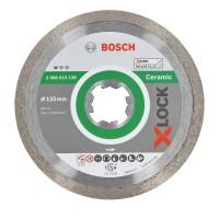 Disc diamantat, continuu, pentru debitare placi ceramice, Bosch X-Lock Standard for Ceramic, 125 x 22.23 x 1.6 mm