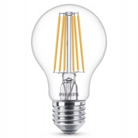 Bec LED filament Philips clasic A60 E27 10.5W 1521lm lumina calda 2700 K