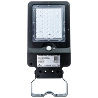 Corp de iluminat stradal solar LED, 8W, 850 lm, lumina rece - 6500 K, cu senzor de miscare, IP65