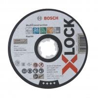 Disc abraziv, pentru taieturi drepte, Bosch Multimaterial X-Lock, 125 x 22.23 x 1 mm