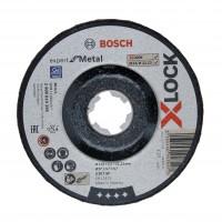 Disc pentru slefuire, Bosch Expert for Metal X-Lock, 125 x 22.23 x 6 mm