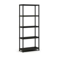 Raft din plastic, pentru depozitare, Keter Plus Shelf 75/5, 75 x 32 x 177 cm, negru, 25 kg/polita