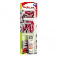 Dibluri universale, din nylon, Fischer Duopower 536248, 6/8/10 mm, set 30 bucati