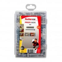 Set Fischer Profi-Box 518525, dibluri 6/8 mm + suruburi, 160 bucati