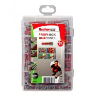 Set Fischer Profi-Box 538621, dibluri 6/8/10 mm, 132 bucati