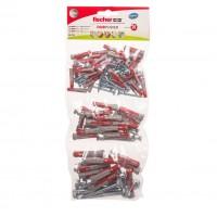 Dibluri universale, din nylon, Fischer Duopower 541179, 6/8/10 mm + suruburi, set 130 bucati