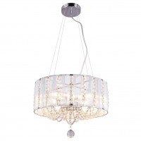 Suspensie Walla 15091H, 4 x E14, decoratiuni transparente