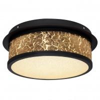 Plafoniera LED Petreg 49367-24D, 24W, 1790 lm, lumina neutra, negru + auriu
