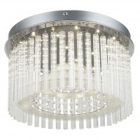 Plafoniera LED Joyce 68568-18, 18W, 1600 lm, lumina neutra, cu decoratiuni transparente