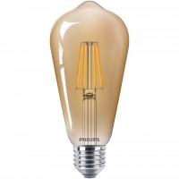 Bec LED filament Philips clasic ST64 E27 4W 400lm lumina calda 2500 K, auriu