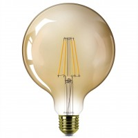 Bec LED filament Philips glob G120 E27 7.2W 650lm lumina calda 2200 K