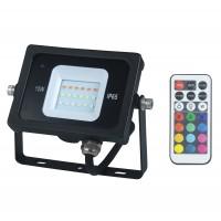 Proiector LED RGB Hoff 10W, lumina colorata, IP65