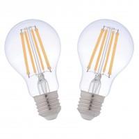 Bec LED filament Hoff clasic A60 E27 10W 1300lm lumina calda 2700 K - 2 buc