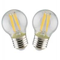 Bec LED filament Hoff mini G45 E27 5W 650lm lumina rece 6500 K - 2 buc