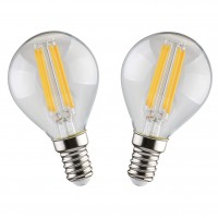 Bec LED filament Hoff mini G45 E14 5W 640lm lumina rece 6500 K - 2 buc