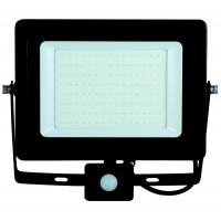 Proiector LED cu senzor de miscare Hoff 100W, lumina rece, IP65