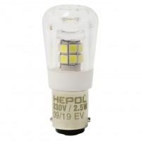 Bec LED pentru masina de cusut Hepol tubular BA15D 2.5W 260lm lumina rece 6500 K