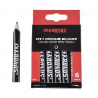 Creion dulgherie, Kronus 71299HB, set 6 bucati, culoare neagra