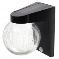 Aplica solara LED Hoff, glob, 3W, lumina rece, cu senzor de miscare